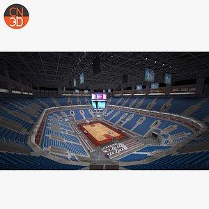 basketball arena ball court model