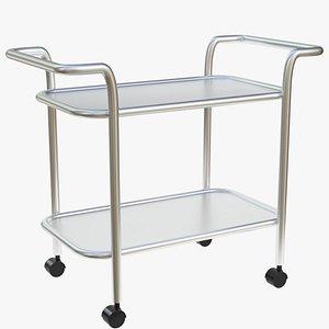 3d model of food beverage trolley cart