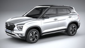 3D model Hyundai Creta 2021