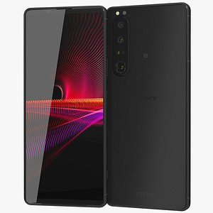3D model Sony Xperia 1 III Frosted Black