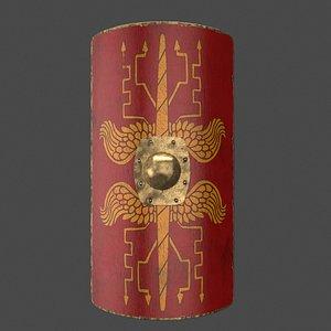 3D roman shield