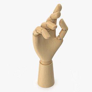 3D model wooden hand
