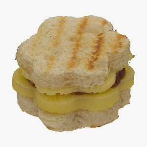 toasted star salami sandwich 3D model