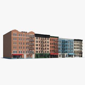 Brick buildings 3D