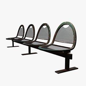Exterior Waiting Bench 3D