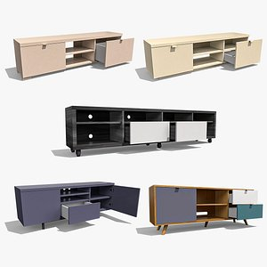 3D TV Stand Collection model