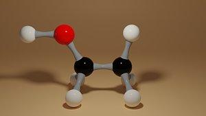 molecule c2h6o 3D