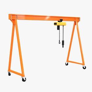 gantry crane portable 3D model