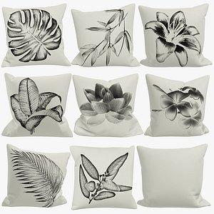 pillows sofa v1 3D model
