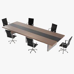 table desk furniture 3D model