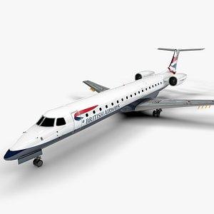BRITISH AIRWAYS EMBRAER ERJ 145 L1406 model