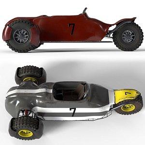 3 buggy 4 skins 3D