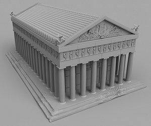 greek temple 3D model