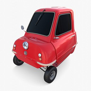 Peel P50 Red with chassis 3D