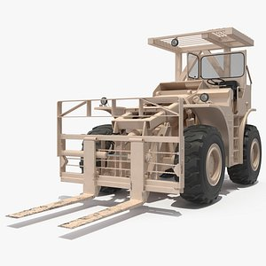 Pettibone Rough Terrain Military Forklift Sand 3D
