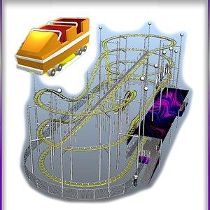 3D Classic Roller Coaster Galaxy