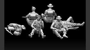 british soldiers 3D model