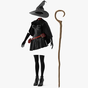 3D Witch Costume 2