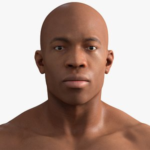 Black Male Rigged 3D model