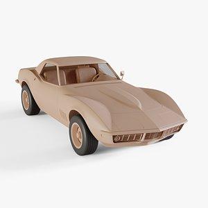chevrolet corvette convertible 3D model