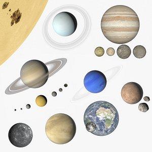 Solar system scaled model