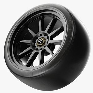 3D model Slick Tyre