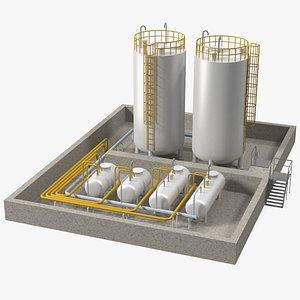 Factory Petrol 3D model