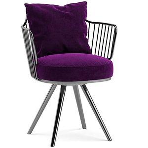 3D paradise bird dining chair model