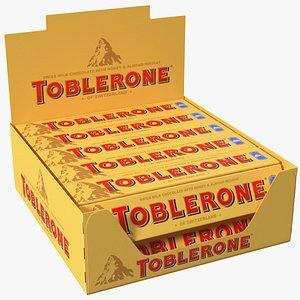 Toblerone Milk Chocolates Box 3D