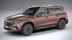 3D Mercedes-Benz EQB Basic 2022 model