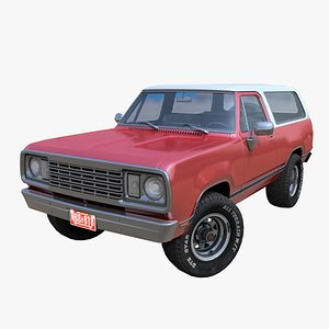 American generic  offroad car PBR 3D model
