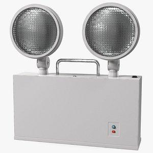 halogen twin emergency light 3D