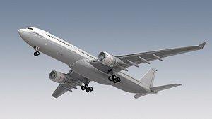 airbus a330-300 generic landing gears 3d model