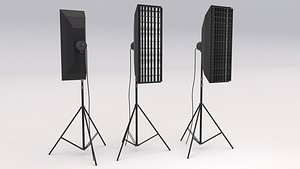 3D Softbox Studio Light 02