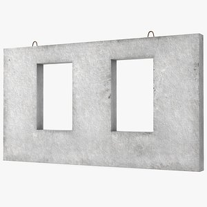 3D concrete wall windows