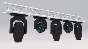 Truss with Moving Heads 3D model
