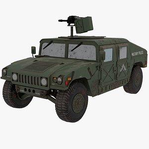 HUMVEE US Army 3D model