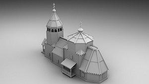 3D church russian model
