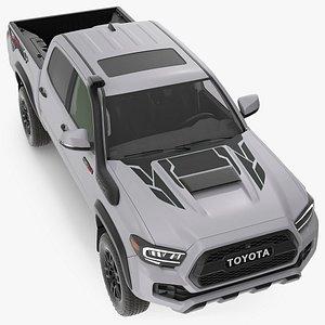 Toyota Tacoma TRD Pro Silver Sky Metallic 2021 3D model