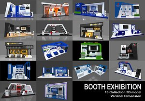 18 Booth Exhibition model
