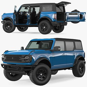 3D Four Door 4X4 SUV Rigged
