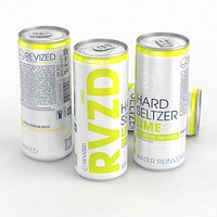 Alcohol Can Revized RVZD Hard Seltzer Lime 330ml 2021