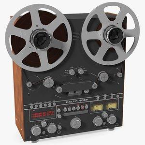 3D Open Reel Tape Machine M 063 H5 Black