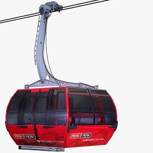 3D 2 peak gondola model