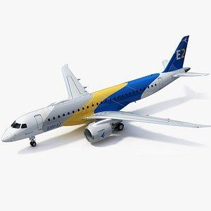 3D model Embraer E190-E2 Regional Jet