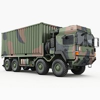 MAN HX77 container truck