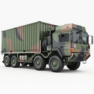3D model man hx77 trucks