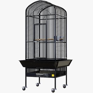 3D Bird Cage Lowpoly PBR