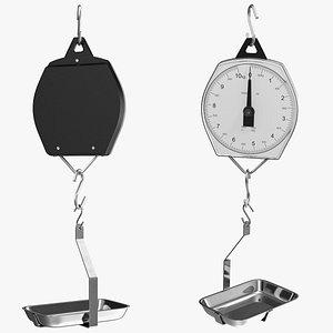 3D mechanical hanging scales pan model