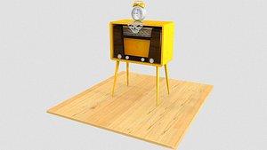 3D Antique Radio Cabinet